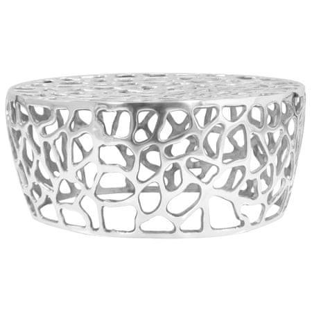 shumee ezüstszínű öntött alumínium dohányzóasztal 70 x 30 cm