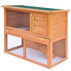 Vonkajšia králikáreň/klietka pre zvieratá, 1 dvierka, drevená