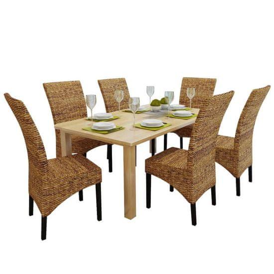 Jedálenské stoličky 6 ks, abaka a mangový masív