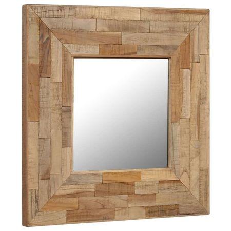 shumee újrahasznosított tíkfa keretű tükör 50 x 50 cm