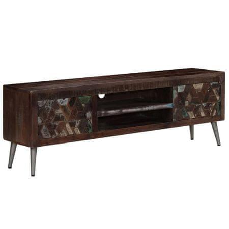 shumee tömör újrahasznosított fa TV-szekrény 140 x 30 x 45 cm