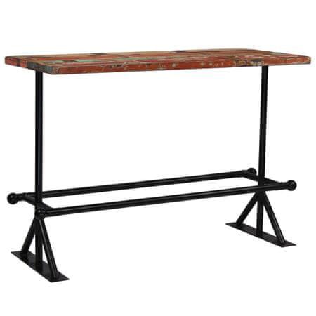 shumee többszínű tömör újrahasznosított fa bárasztal 150 x 70 x 107 cm