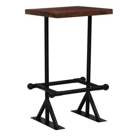 shumee sötétbarna tömör újrahasznosított fa bárasztal 60 x 60 x 107 cm