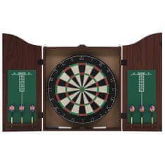 shumee szizálból készült profi darts tábla szekrénnyel és 6 nyíllal