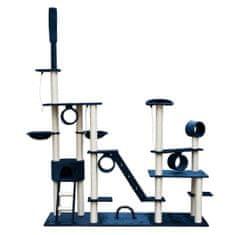 Drapak dla kota 230-260 cm Deluxe, niebieski/ grafitowy