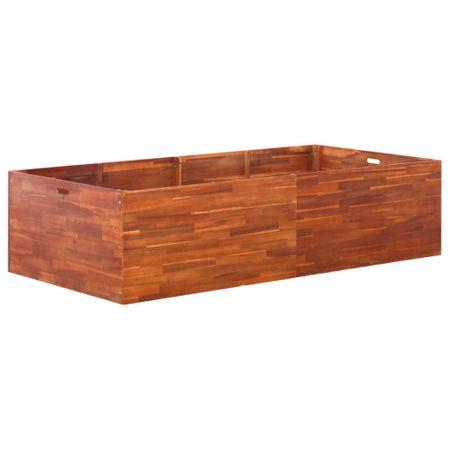 shumee Visoka greda iz akacijevega lesa 200x100x50 cm
