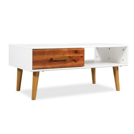 shumee tömör akácfa dohányzóasztal 90 x 50 x 40 cm