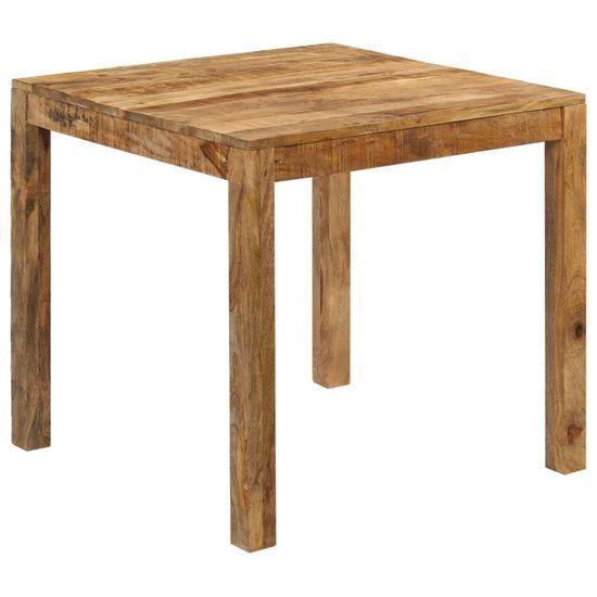 shumee Jídelní stůl 82 x 80 x 76 cm masivní mangovníkové dřevo