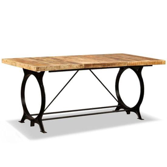 Jedálenský stôl, masívne surové mangovníkové drevo, 180 cm