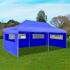 Modrý skladací párty stan 3 x 6 m