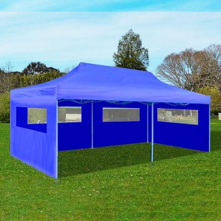 slomart Zložljiv pop-up vrtni šotor 3x6 m moder