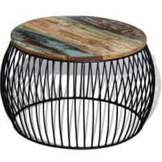 shumee Konferenční stolek kulatý masivní recyklované dřevo 68 x 43 cm