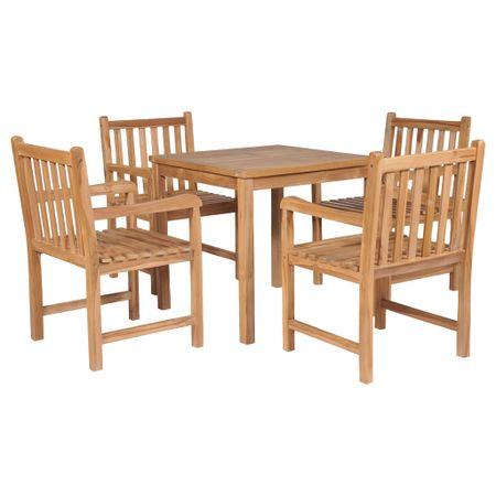 shumee 5-cz. zestaw mebli ogrodowych, lite drewno tekowe