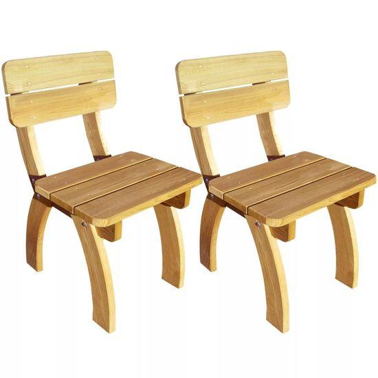 Záhradné stoličky 2 ks, impregnovaná borovica