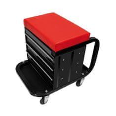 shumee ProPlus pojízdná dílenská stolička s úložným prostorem 580526
