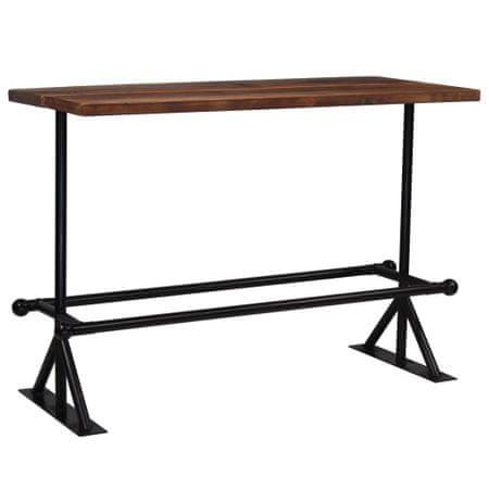shumee sötétbarna újrahasznosított fa bárasztal 150 x 70 x 107 cm