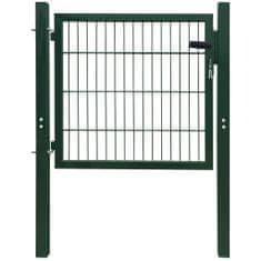 shumee 2D Bramka ogrodowa pojedyncza Zielona 106 x 130 cm