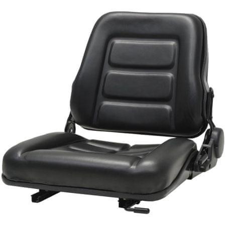 slomart Sedež za viličar in traktor s prilagodljivim naslonjalom črn