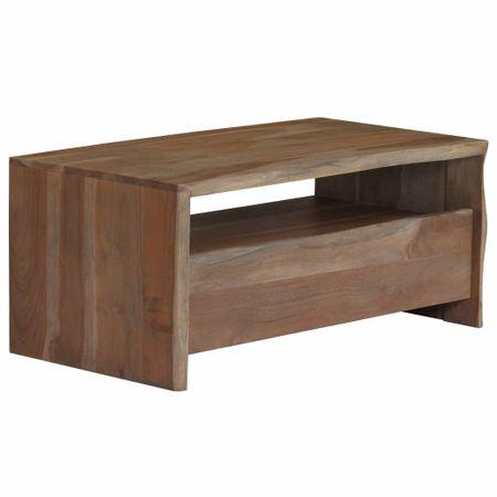 shumee szürke tömör akácfa dohányzóasztal 90 x 50 x 40 cm