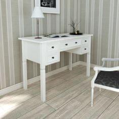 shumee Bílý psací stůl s 5 zásuvkami