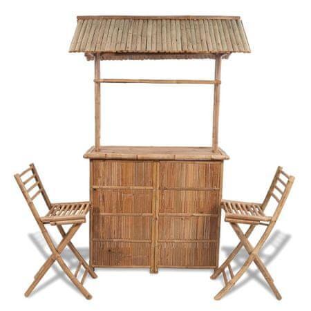 3-cz. zestaw mebli bistro, bambus