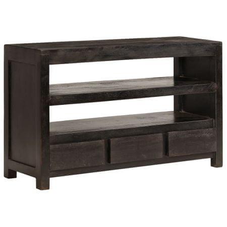 Szafka pod TV, drewno akacjowe, 90 x 30 x 55 cm, ciemnobrązowa