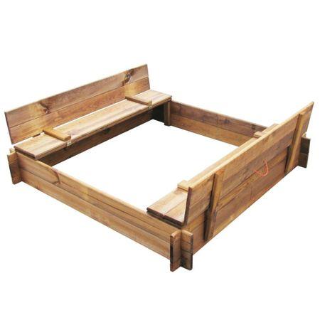 slomart Peskovnik iz impregniranega lesa kvadraten