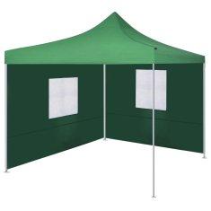 Skladací stan s 2 stenami zelený 3x3 m