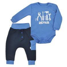 KOALA 2-dílná bavlněná kojenecká souprava Koala Repair blue - 2-dílná bavlněná kojenecká souprava Koala Repair blue