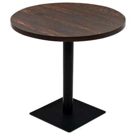 shumee kerek, sötét hamuszínű MDF/acél bisztró asztal 80 x 75 cm