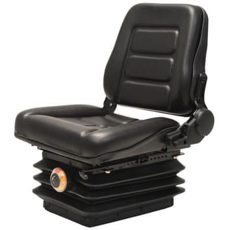 slomart Sedež za viličar in traktor vzmetenje prilagodljivo naslonjalo