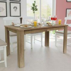 shumee Jídelní stůl 140x80x75 cm dub