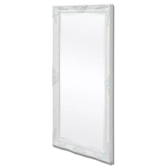 Nástenné zrkadlo v barokovom štýle, 120x60 cm, biele