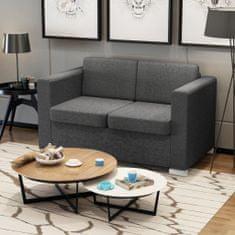 Vidaxl Dvoumístná sedačka textilní tmavě šedá
