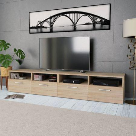 shumee 2 db tölgyfa színű faforgácslap TV szekrény 95 x 35 x 36 cm