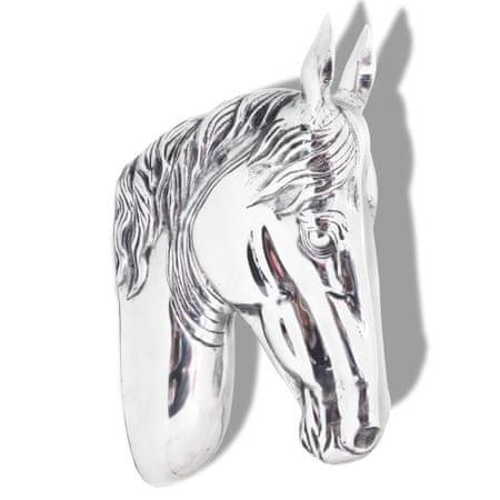shumee falra rögzíthető lófej dekoráció alumínium ezüst