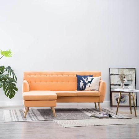 shumee Kavč L oblike z oblogo iz blaga 171,5x138x81,5 cm oranžne barve