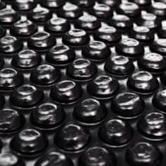 shumee Štvorcový čierny bazénový kryt 10x5m