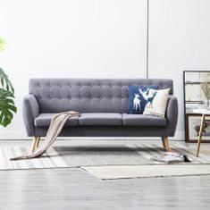 Vidaxl Trojsedačka s textilním čalouněním 172 x 70 x 82 cm světle šedá