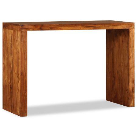slomart Konzolna mizica iz masivnega lesa in palisandra 110x40x76 cm