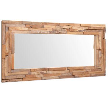 shumee Okrasno ogledalo tikovina 120x60 cm pravokotne oblike