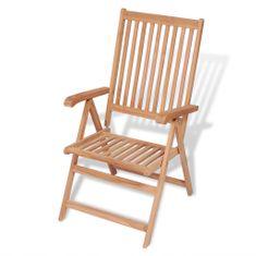 Sklápacia záhradná stolička, tíkový masív
