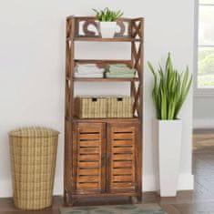 shumee Skrinka do kúpeľne ''Albuquerque'', drevo, hnedá 46x24x117,5 cm