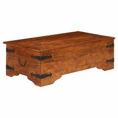 Konferenčný stolík, akáciový masív, povrch sheesham 110x55x35cm