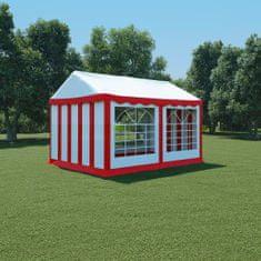 shumee Záhradný stan z PVC, 3x4 m, červeno-biely