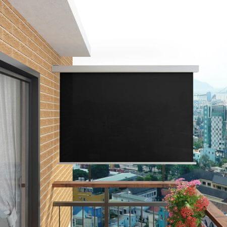 shumee multifunkciós fekete oldalsó napellenző erkélyre 180 x 200 cm