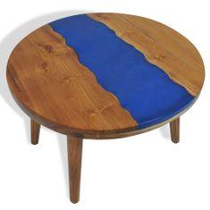 Konferenčný stolík 60x40 cm teak a živica