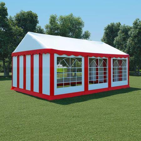slomart Vrtni šotor PVC 4x6 m rdeče in bele barve