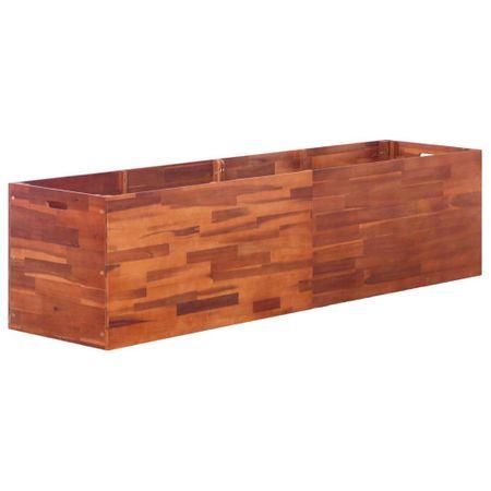 shumee Visoka greda iz akacijevega lesa 200x50x50 cm