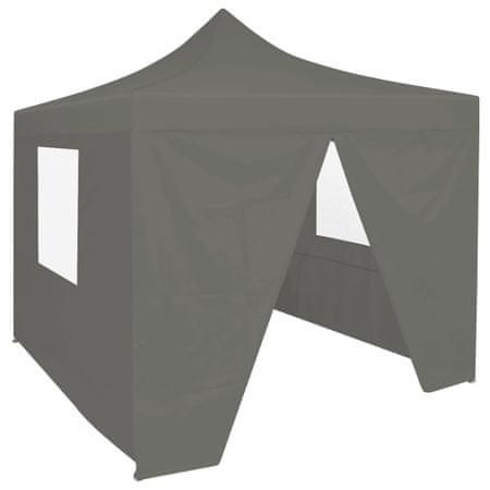 shumee Rozkładany namiot imprezowy z 4 ściankami, 3x3 m, antracytowy